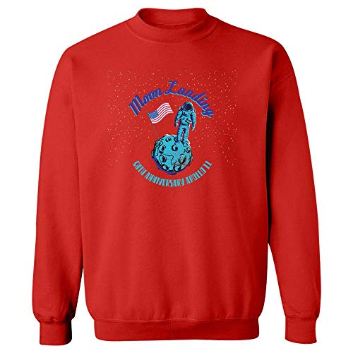 Landed On The Moon Landing Apollo 11 50th Anniversary Design - Sweatshirt Red