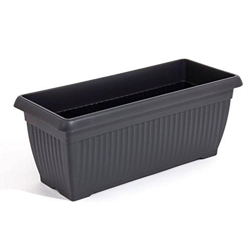Prosper Plast Corinthian Trough Flower Pot/Planter (70cm, Black)