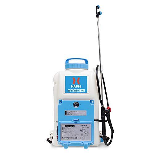 HAIGE 電動噴霧器 充電式 背負い式 バッテリー式 16リットル HG-KBS16L