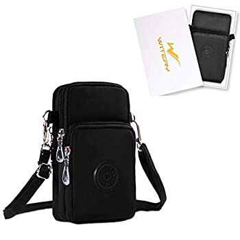 WITERY Waterproof Nylon Cute Crossbody Cell Phone Purse Smartphone Wallet Bag for Women Gift Box