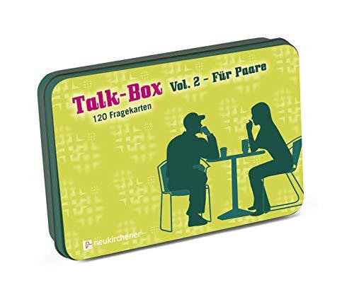 Talk-Box Vol. 2 - Für Paare. 120 Fragekarten: 120 Fragekarten in Metalldose