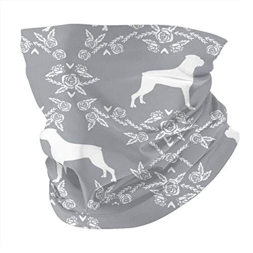 ZHANGPEIENfaqi Boxer Florals - Máscara y escudo para perro, color gris