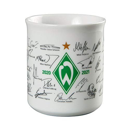 Werder Bremen Tasse, Becher Team mit Unterschriften 2020/2021, 21-30062
