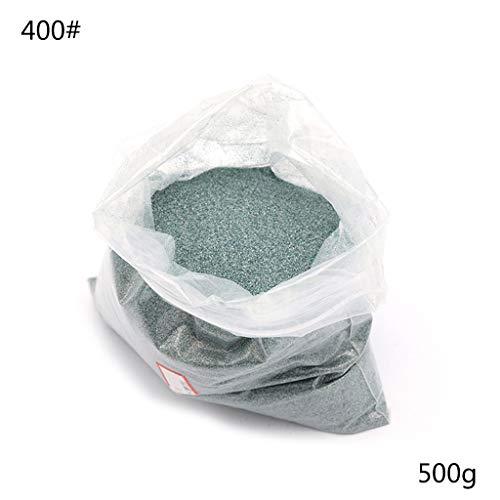 chenpaif Carburo di silicio Power, 500g Polvere per lucidare Carburo di silicio 36-8000# Strumenti per lucidatura a Polvere per circuiti Stampati Vetro Metallico 400#