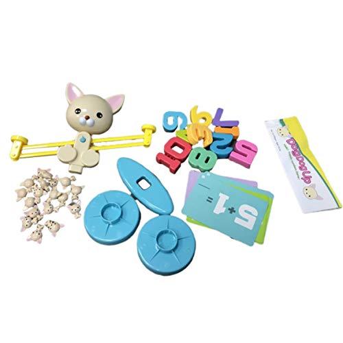 nbvmngjhjlkjlUK Balance Digital Toy Monkey Balance Digital Suma y resta Aritmética Juego de Escritorio Puzzle (Balance de Perro)