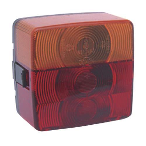 Achterlicht met verlichte plaat + knipperlicht + stop, 98mmx102mm