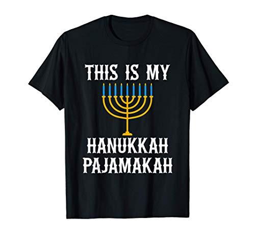 This Is My Hanukkah Pajamakah Pj Pajama Funny Gift T-Shirt