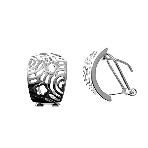 Minoplata Pendiente Calado de Plata de Ley con Cierre Omega un diseño Precioso Mujeres sofisticadas