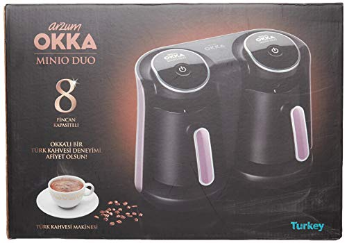 Arzum OK006-N OKKA MINIO DUO Türkische Kaffeemaschine, Plastic, RED