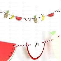 デコレーションパーティー トロピカルパーティーハワイアンデコレーション3Pcsハンギングペーパーファンフラミンゴトゥカンヤシの葉パターン夏の誕生日ルアウパーティーデコレーション