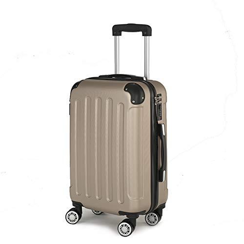 Beibye A13 - Juego de maletas rígidas con ruedas (4 ruedas, tamaño A13), color champán