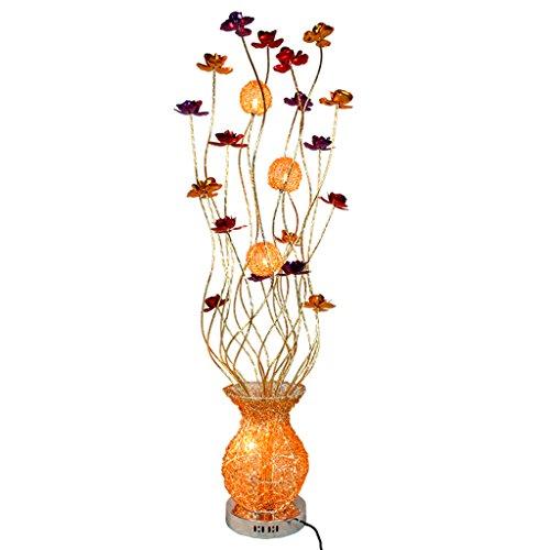 Kreative Aluminiumdraht Geflecht Stehlampe, moderne Wohnzimmer Schlafzimmer rose Vase Kunst Stehlampe G4 Lampenfassung, verchromtem Metall Basis.