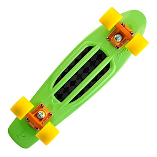 "MightySkins Skin Compatible with Penny Board Original 22"" Skateboard Cover wrap Sticker Skins Black Argyle"