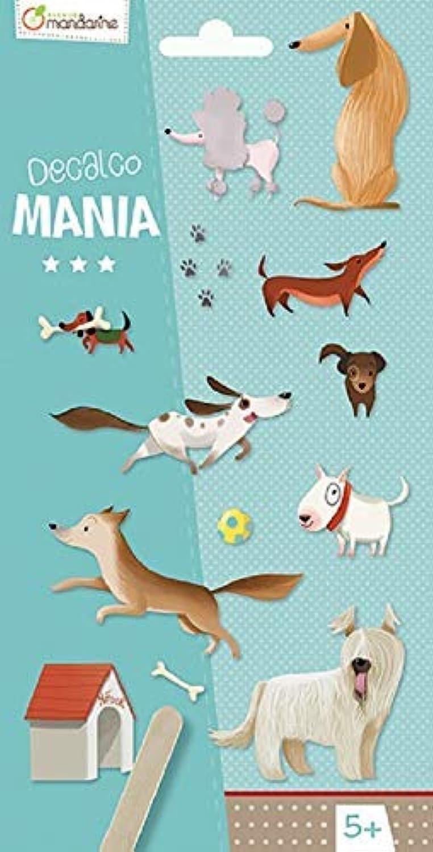 Avenue Mandarine CC024O Packung Decalco Mania (mit 2 Bgen à 20 Rubbelbildern, ideal für individuelle oder gemeinsame Bastelaktivitten, geeignet für Kinder ab 5 Jahren) 1 Pack Hunde