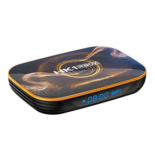YGQNH Dongle Empfanger HK1 RBOX R1 Smart TV Box Android 100 4K Media Player RK3318 4 GB 128 GB 24 G 5 G WiFi BT40 100 M LAN Mit FernbedienungSize4GB64GB