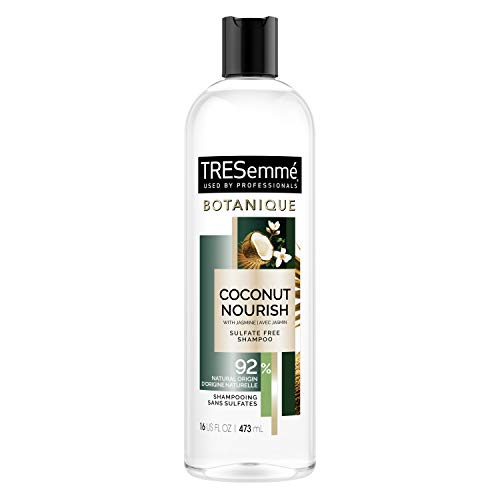 TRESemmé Botanique Shampoo for Dry, Frizzy Hair Botanique Coconut Nourish 92% Derived Natural Materials with Professional Performance for dry hair 16 oz