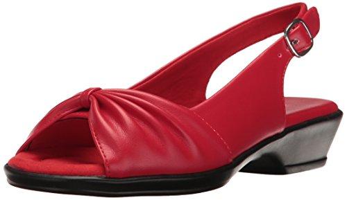 Easy Street Women's Fantasia Heeled Sandal, Red, 8 M US