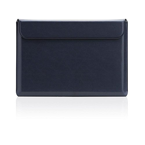 [SLG DESIGN] D5 Cal Sleeve for MacBook Pro 15' I Water Repellent Coating Leather Case Compatible with MacBook 15-inch A1707, A1990 / Touch Bar 2019-2016 Release with A1398, A1286 / Retina (Navy)