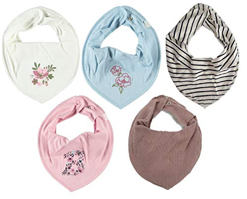 NAME IT Halstuch 5er Set Baby Dreieckstücher Halstücher 5 Stück SPARPACK (Girl Mix Rosa)