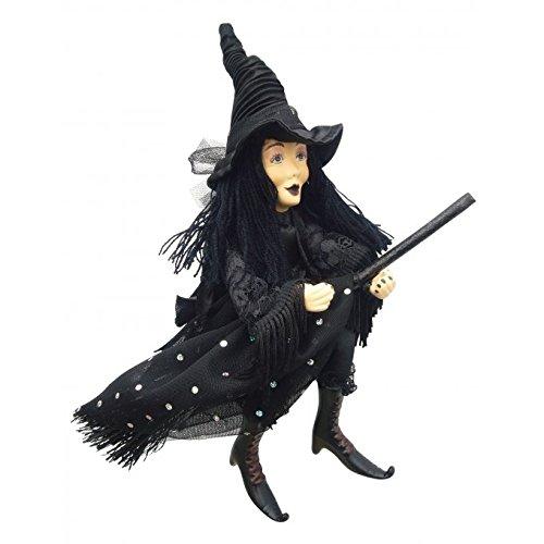 Hexen von Pendle-Zilla Goth Hexe (schwarz) 24cm
