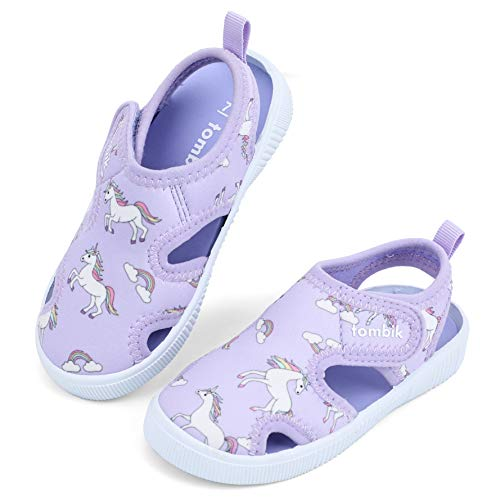 TIMETERNY Toddler Summer Sandals Boys /& Girls House Slippers Slip on Water Shoes Garden Lightweight Clogs with Backstrap for Beach Pool