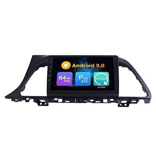 JIBO para Sonata 2015-2017 Android 10 Coche Estéreo Radio GPS Navegación Cabeza Unidad HD IPS Toque Pantalla Sat Nav Bluetooth DSP SWC Multimedia Jugador Vídeo Receptor