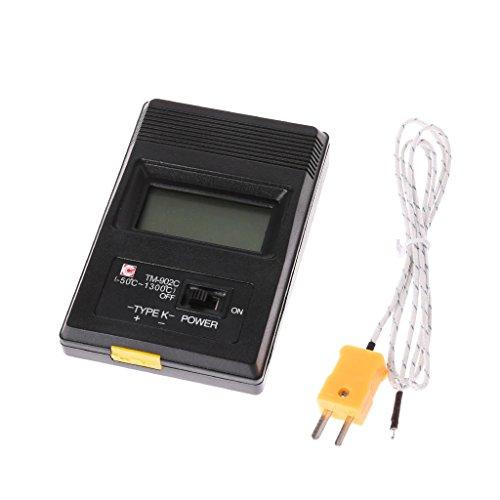 zijianZZJ Thermomètre, 2019 TM-902C Thermomètre numérique de Type K avec sonde 1300