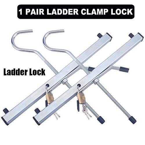 SOULONG Abrazaderas de Escalera Portaequipajes de Furgoneta Universal con Llave, 2 Candados Plus Gratuitos