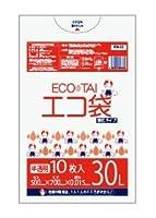 ゴミ袋 30L 500x700x0.015厚半透明 10枚 HDPE素材