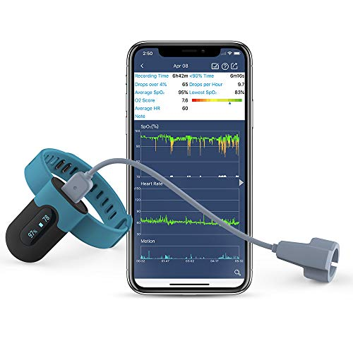 ViATOM Wrist Blood Oxygen Saturation Monitor Rechargeable(Free APP and PC Report), Adjustable Vibration Alert Low Blood O2, Bluetooth Sleep Tracker for General Wellness Use