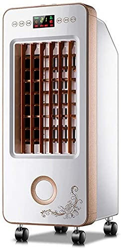 ZJDM Condizionatore d Aria Mobile Raffreddatore d Aria evaporativo Mobile a 3 velocità, umidificatore con Ventilatore per climatizzazione Domestica ecologia con Telecomando per Serbatoio dell acq