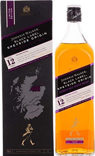 Johnnie Walker Black Label 12 Jahre – SPEYSIDE ORIGIN Limited Edition Blended Scotch Whisky (1 x 1 l)