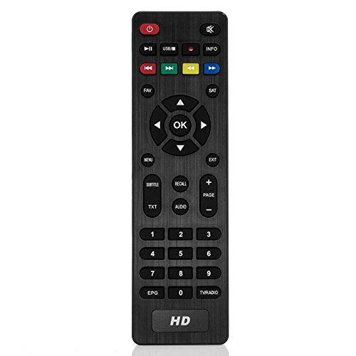 Anadol Original Ersatz Infrarot Fernbedienung HD 222 PRO, HD 200, ADX HD 222s und andere Receiver in schwarz