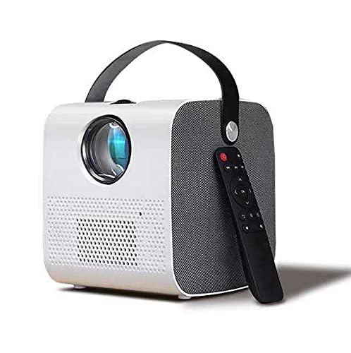 KANGLE-DERI Proyector Portátil Home Smart Mini Portátil Inalámbrico HD 8 + 32G Memoria Grande Pequeño Mini Proyector Todo En Uno Ver Películas En La Pared,Android Version