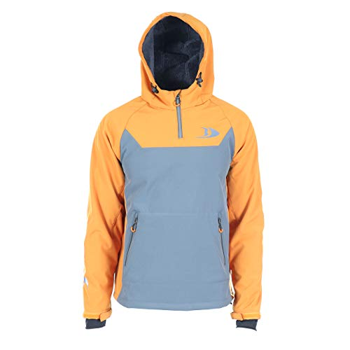 Blackfish Men's Gale 2.0 Soft-Shell Pullover (Charcoal/Orange, Large)