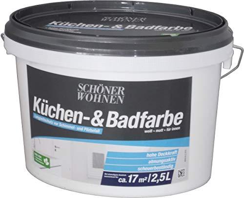 Küchen- und Badfarbe weiß matt 2,5 l Schöner Wohnen