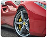 8 x 10 Inch Mouse Pad, Red Ferrari Mouse Mat Pad - Sports Car Dad Brother Son Gift PC Computer