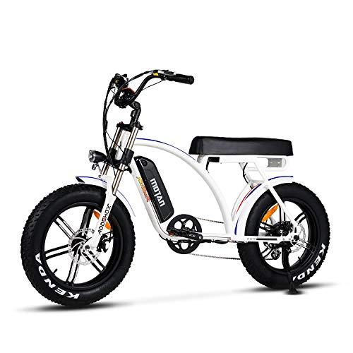 Addmotor Motan M60 Cruiser Electric Bike, 750W 12.8Ah (White)