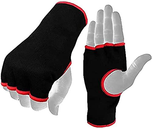 Boom Prime - Guanti da artrite, senza dita, a compressione reumatoide reumatoide per alleviare dolori articolari, lesioni, supporto per le mani, boxe, arti marziali, rosa e nero (nero, L/XL)