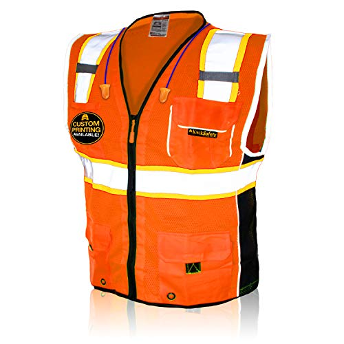 KwikSafety Heavy Duty Mesh Construction Safety Vest