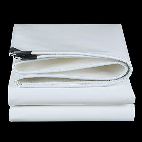 Yxsd Bâche Blanche de Film de Tissu de PVC bâche imperméable à l'eau Bâche imperméable de Protection Solaire Trois Anti-Tissu (Size : 5x10m)