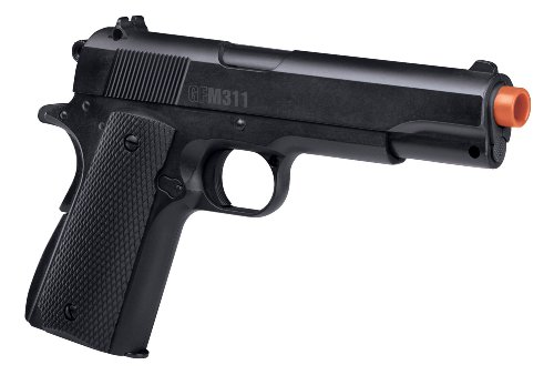 GameFace APGFM311 Full Metal GFM311 SpringPowered SingleShot Airsoft Pistol Black