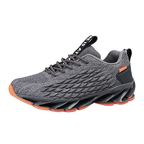 Scarpe Running Uomo Sneakers Respirabile Fitness Scarpe da Ginnastica Respirabile Mesh Outdoor Casual Grigio 46