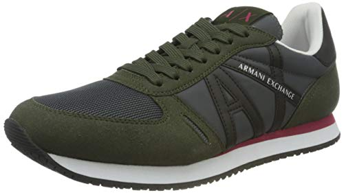 Armani Exchange Micro Suede Multicolor Sneakers, Basket...