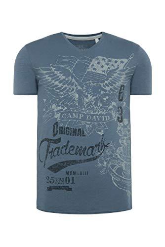 Camp David Herren T-Shirt, Cliff Grey, L