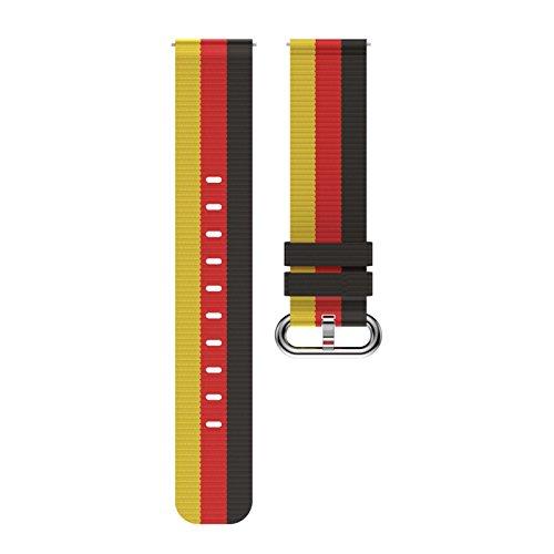 Ticwatch Nylon Strap 20 mm fivela de aço inoxidável