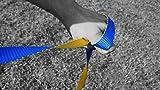 Gibbon Slacklines Flow Line mit Treewear/Baumschutz, Blau-Gelb (Komplettset: 25m:  22,5m Webbing +2 x 2 5cm Ratschenbänder mit je 2,5 Meter Länge) - 6
