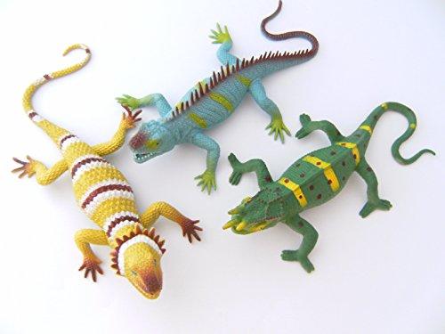 Ravensden Eidechsen 3erSet 34cm Stretch Stretcheidechsen Echsen Chamäleon Eidechse Spielzeug
