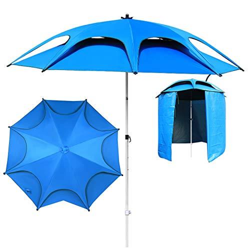 Sombrilla Parasol para Jardin Terraza Portátil Ligero Sombrillas De Pesca Con Tienda De Playa Y Base Triangular, Sombrillas De Mercado De Protección Solar Al Aire Libre Para Jardín Y Piscina Patio Som