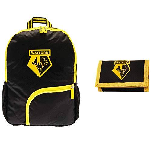 Official Watford FC Crest Junior Rucksack & Money Wallet Gift Set